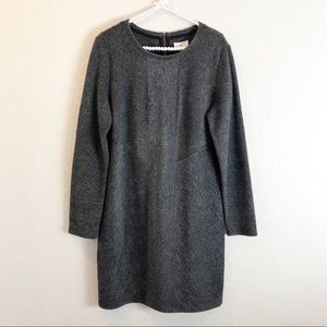 Lou & grey midi shift sweater dress sz L